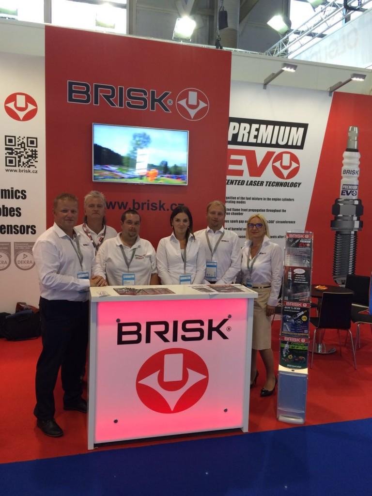 BRISK Team Foto from Automechanica in Frankfurt