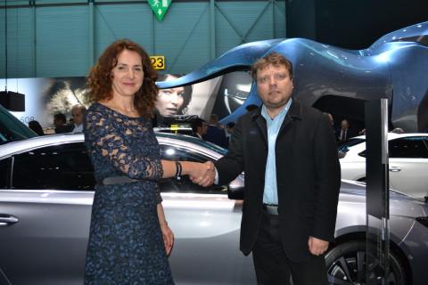 Radce pogratuloval v Ženevě ke skvělému umístění šéfredaktor Automakers Erich Handl