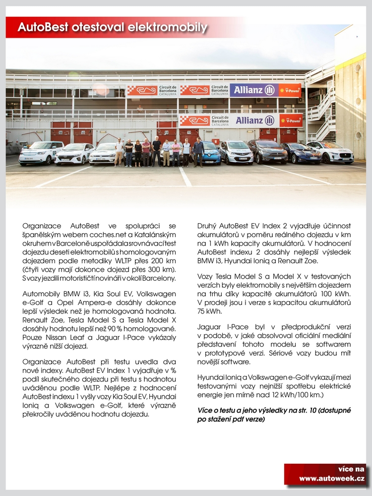 Autobest test elektro Autoweek